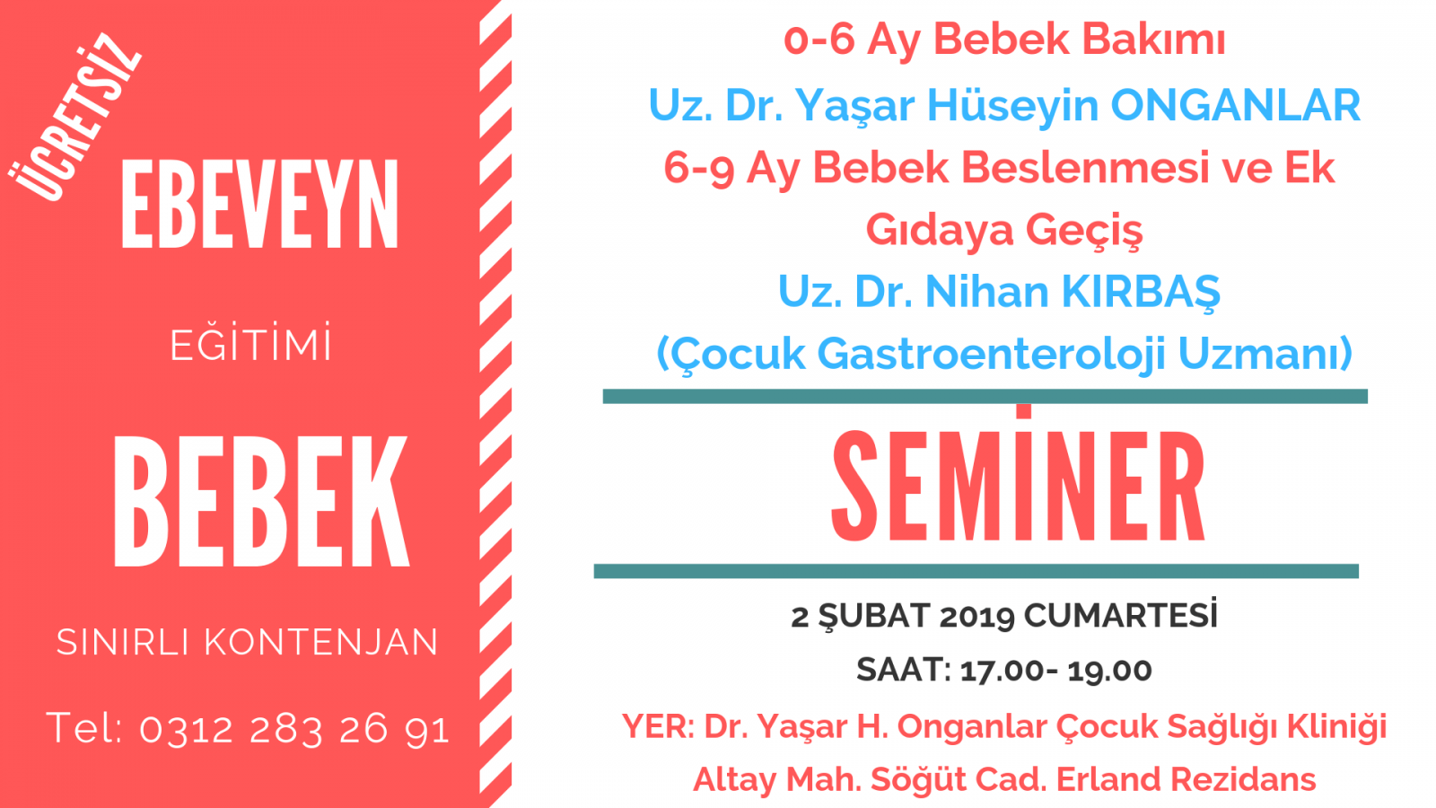 bebek bakımı semineri Ankara Eryaman