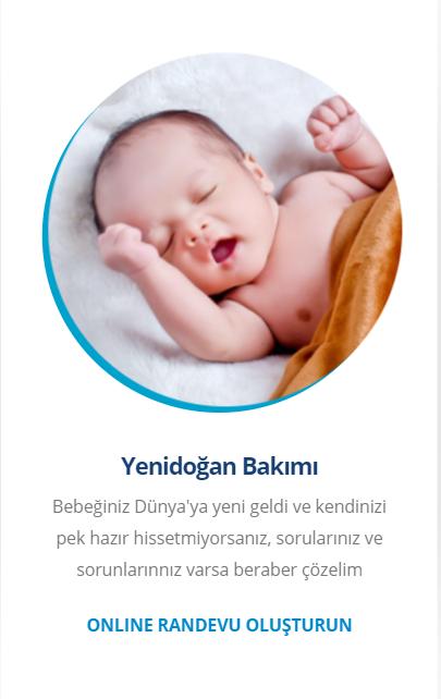 online yenidoğan bebek randevusu